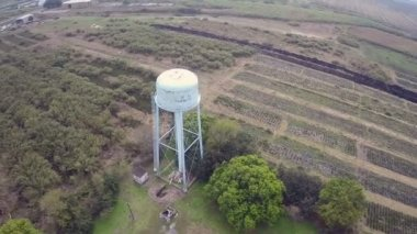 Water reserve tank aerial video — Stock Video