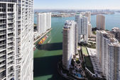 Brickell and Downtown Miami — Stock Photo