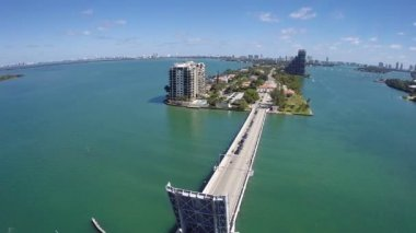 Boats in Miami aerial footage — Stock Video