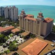 Aerial footage of the Ritz Carlton in Naples Florida — Stock Video