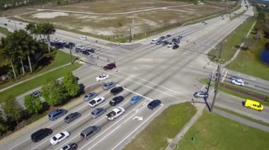 Intersection aerial video — Vídeo Stock