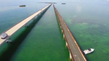 Seven Mile Bridge Florida Keys — Stock Video