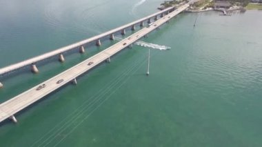 Florida Keys 7 mile bridge — Stock Video