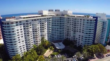Seacoast Towers Miami Beach aerial video — Stock Video
