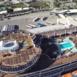 Cruise ship aerial — Stock Video