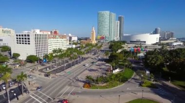 Aerial footage of Downtown Miami Florida — Stock Video