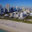 Flying over Miami Beach — Stock Video