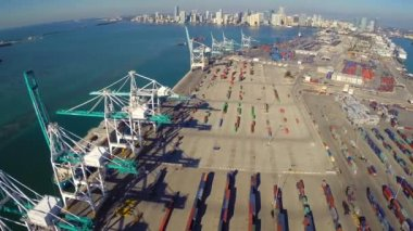 Port of miami florida hava kaldıraç — Stok video