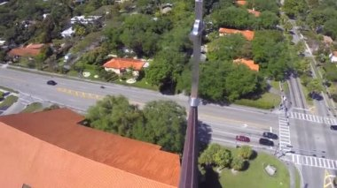 Aerial orbiting video of a church cross — ストックビデオ