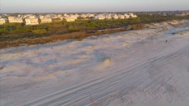 Aerial footage Dunes at St Augustine Beach — Stock Video