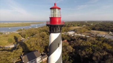 St Augustine Lighthouse — Stock Video