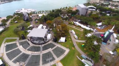Aerial Ultra Musicfest Miami — Stock Video