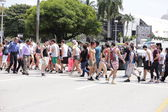 People going to Ultra Music Fest Miami 2014 — Stock Photo