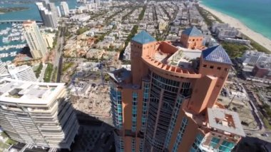 Miami Beach highrise — Stock Video