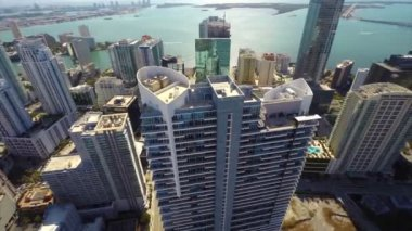 Aerial Brickell Miami — Stock Video