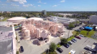 Water purification plant aerial video — Stock Video