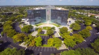 Aerial video of Presidential Circle Hollywood FL — Stock Video