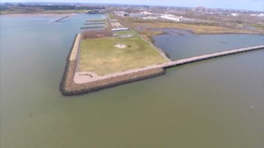 Liberty State Park NJ aerial video — Stock Video