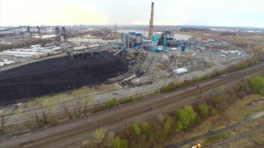 Antenn new jersey kraftverk — Stockvideo