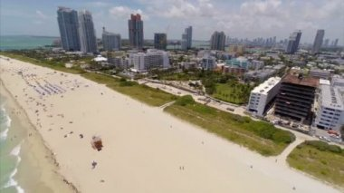 Aerial video of Miami Beach South Beach sobe — Stock Video