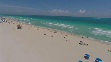 Letecká miami beach — Stock video
