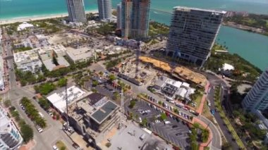 Aerial footage of Miami Beach south of 5th Street — Stock Video