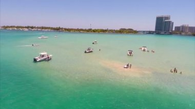 Aerial video of a sand bar — Stock Video