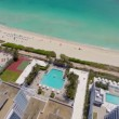 Aerial video of a residential beachfront building — Stock Video