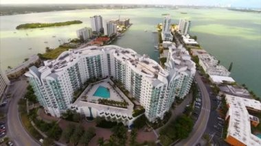 Buildings at Harbour Island Miami Beach — ストックビデオ