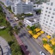 Stock aerial video Ocean Drive Miami Beach — Stock Video