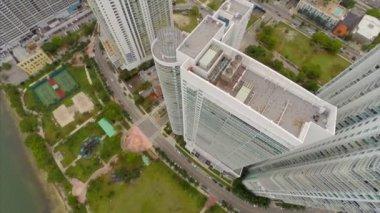 Buildings at North Bayshore Drive Miami — Stock Video