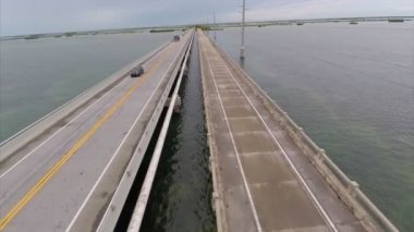 Florida Keys Bridge aerial video — Stock Video