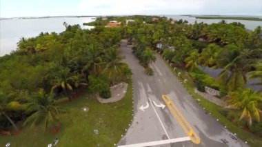 Aerial video residential houses in Key West — Stock Video