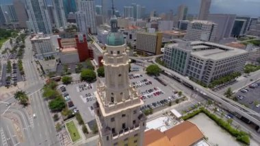 Freedom Tower Miami aerial video — Stock Video
