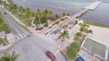 Aerial video Florida Keys AIDS Memorial — Stock Video