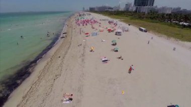 Miami Beach aerial flyover — Stock Video