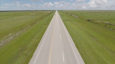 Aerial video rural road — Stock Video