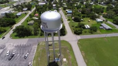 Aerial video Water Tank Moore Haven — Stock Video