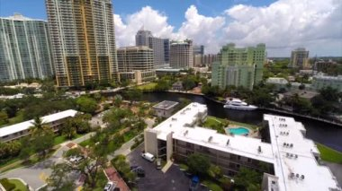 Aerial video Fort Lauderdale FL — Stockvideo