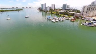 Aerial video of Clewiston Walmart — Stock Video