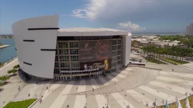 American Airlines Arena aerial video — Stock Video