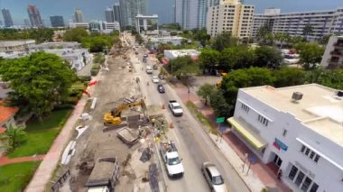 Aerial video Alton Road Miami Beach — Stock Video