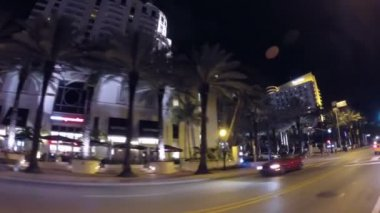 Ocean drive night — Stock Video