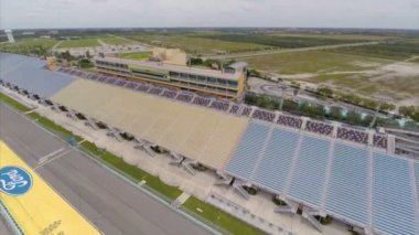 Aerial Homestead Speedway Miami FL — Stock Video