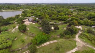 Aerial video of Metro Zoo Miami — 图库视频影像