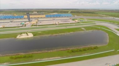 Aerial video Homestead Speedway Miami Florida — Stock Video