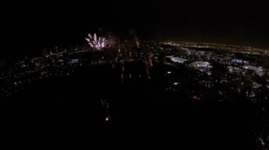 4th of July fireworks aerial drone — Stock Video