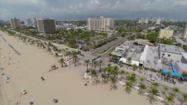 Aerial video footage Fort Lauderdale Beach — Stock Video
