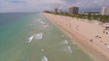 Stock aerial video of Fort Lauderdale Beach FL — Stock Video