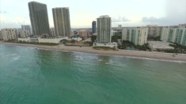 Aerial video Hallandale Beach — Stock Video
